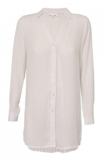 SassyChic Pleated Blouse - White