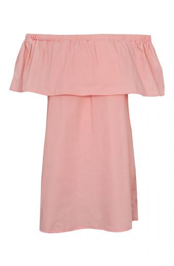SassyChic Off Shoulder Dress - Rose