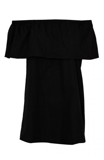 SassyChic Off Shoulder Dress - Black