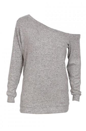 Zip-Code Drop Shoulder Sweater